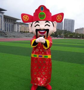 God of Wealth Mascot Costume Costume Bot Bambola Costume Costume Della Mascotte Indossare Big Head Doll God of Wealth Vestiti