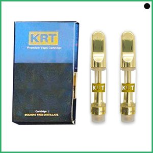 Hottest Krt empty vape cartridge new packaging Ceramic Coil 1.0ml Atomizer carts vapes OEM brand logo Ceramic Coil Atomizer