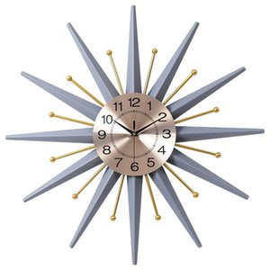 Luxury Grey Wall Clock Elegant Digital Gold Creative Nordic Wall Clock Modern Design Relogio De Parede Home Decoration EA60WC