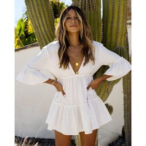 White Beach Pareos Swimwear Cover up Womens Beach Tunic Dress Cover up Kaftans Sarong Wrap Bathing Suit ups