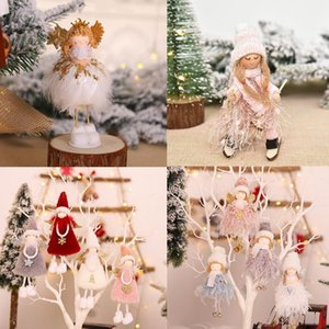 2020 New Year Christmas Gifts Cute Angel Plush Dolls Pendant Xmas Tree Hanging Ornament Christmas Party Home Decoration Supplies