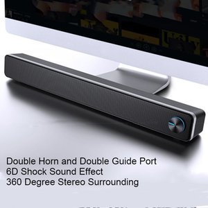 ADA Wired Powerful Computer Speaker Bar Stereo Subwoofer Bass speaker Surround Sound Box for PC Laptop phone Tablet MP3 MP4