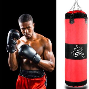 60Cm 80Cm Heavy Boxing Punching Bag with Punching Gloves Heavy Duty Hanging Chains And Mitts Full Set for Kids Adults And Women