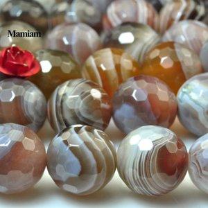 Mamiam Natural Botswana Agate граненый круглые бусины 6 мм 8 мм 10 мм свободный камень DIY браслет ожерелье украшения изготовления драгоценного камня дизайн