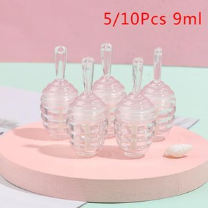 5 10Pcs Empty Lip Gloss Tube Containers ClearMini Sample Cosmetic Refillable Lip Bottles 9ml
