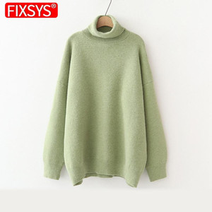 Fixsys Turtime de mujeres Suéteres 2020 Thick Thick Warm Pullover Cashmere Jumper Soft Oversedwear Sweater Sweater Mujeres Puentes