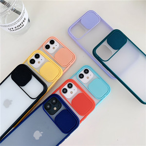 Protective shell Slide Camera Cover CamShield Lens Protection Case for iPhone 12 Mini 11 Pro Max Ultra with opp