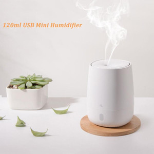For Xiaomi Youpin 120ml Usb Mini Air Humidifier Ultrasonic Essential Oil Aroma Diffuser Mute Led Light Mist Maker Quite For Home H sqcxDX