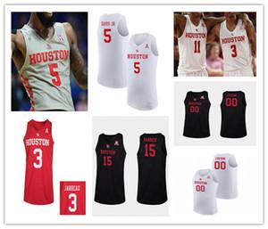 2021 كلية كرة السلة هيوستن كوجر جيرسي كاليب ميلز كوينتين غرايمز فابيان أبيض الابن ديجون جارو كريس هاريس براون جريشام 4XL