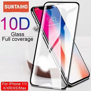 Suntaiho 10D زجاج واقية ل iPhone X XS 6 6S 7 8 زائد حامي الشاشة الزجاجي لفون 11 PROMAX XR SE2 حماية الشاشة