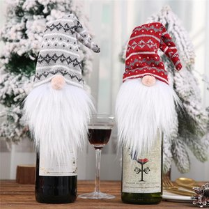 Christmas Dinner Decoration Red Wine Bottle Cap Cute Faceless Doll Bottle Cap Christmas Tree Pendant Home Accessories Cloth Gift Bag