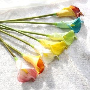 Yapay Calla Lily Gelin Düğün Buketi Lateks Gerçek Dokunmatik Ev Parti Ofis Masaüstü Dekor Yapay Simüle Sahte Çiçek