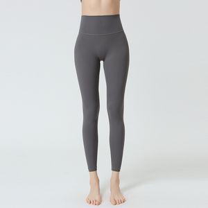 Mujeres Fitness Alto cintura adelgazante Pantalones de yoga Pantalones exteriores de las mujeres Desgaste externo de invierno Luz ajustada y delgada Sin costura alta elasticidad apretada ajustada S