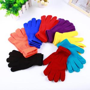 Handschuhe Erwachsenen Strickhandschuh Unisex Elastic Fünf-Finger-Handschuhe WinterSolid Farbe warme Handschuhe im Freien Woman Warm Ski Fäustlinge Geschenke FWC3704