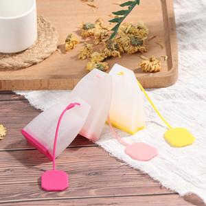 1 pcs saco estilo silicone chá infusers chá filtros ervais especiarias infuser filtros perfumados cozinha café ferramentas de chá gwf4180