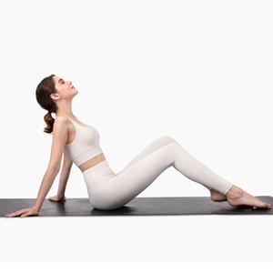Profissional Yoga Set nua - se sente escovado Fitness Fitness Esportes Outfit Yoga Leggings Set Terno Mulheres Marfim Branco Yoga Roupas Z1125