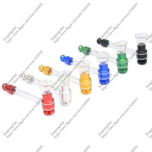 Newest Popular Cheap Colorful Pyrex Glass Oil Burner Pipe Color Glass Oil Burner Glass Tube Pipes for Smoking DHL FEDEX