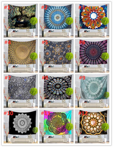 51 Diseño Mandala Tapicería Mural Colgando Mural Colinas de yoga Playa Toalla Picnic Manta Sofá Sofá Funda Party Fondo Boda Decoración del hogar DHD3464