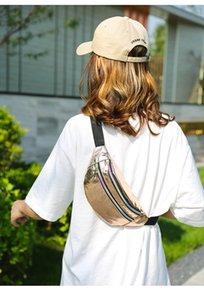 Geestock holographic belt, ladies glitter belt, waterproof geometric belt, fashionable laser belt bag, mobile phone bag