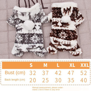 2020 100% Cotton Print Pet Dog Sweater Warm Dog Pajamas Soft Cat Sweater Puppy Clothes Small Dogs Sweater Winter Doggie Apparel