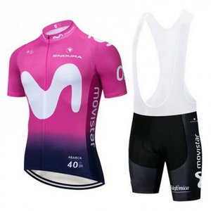 2019 Alejandro Valverde UCI Team M-02 Manica corta Cycling Jersey Summer Cycling Wear Ropa Ciclismo + Bib Shorts 3D Gel Pad Set Dimensioni: XS-4XL