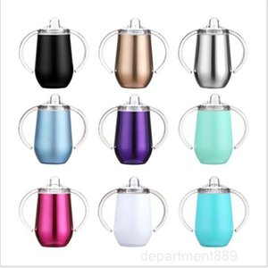 A-Mug Water Bottle with Handle Stainless Steel Tumblers 10oz Sippy Egg Cups Baby Insulated Vacuum Outdoor Travel Cup DHD158