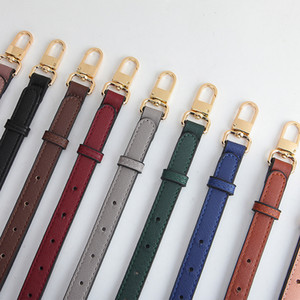 Women PU Adjustable Thin Colorful Bag Strap Leather Fashion Solid Color Long Shoulder Bag Belt Replacement Bag Parts Accessories