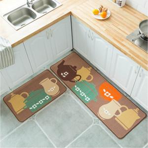 Küche Anti Slip Matten 3D Druck Bodenmatte Teppichmaschine Waschbare Teppiche Nordische Stil Teppiche Wasserdichte Lange Küche Fußmatte ZYC01