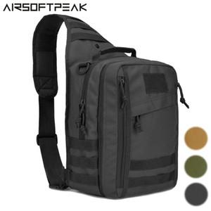 Tactical Sling Bag Pack with Pistol Holster Sling Shoulder Backpack Outdoor Sports Assault Bag for Hunting Camping