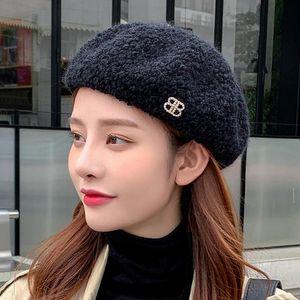 2020 Printemps / Automne / hiver Women's Women's Wind Wind Version coréenne Béret Japonais 100 Modèle Artiste à tricoter Hat Pumpkin chapeau.
