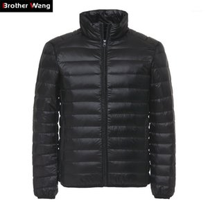 Brother Wang Men's Duck Down Jacket 2019 New Autunno Inverno Men Moda Casual Light Collar Colletto Vestiti di Brand Black Red Navy1