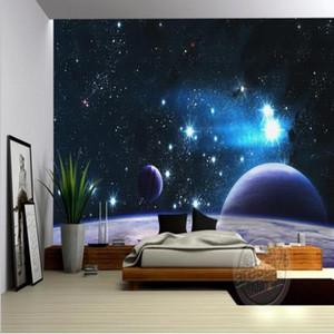 Dropship Mural 3D Custom Stereo Wallpaper KTV Box Ceiling Bar Living Room Large Outer Space Wallpaper Mural 3d