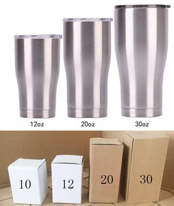 64 36 30 20 14 12 10 oz Stainless Steel Tumbler Large Capacity Cup with lid Coffee Mugs Double wall vacuum Insulation Drinkware
