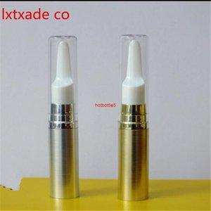 Free Shipping 5 ml Gold Silver Empty Pack Bottle Pump Pen New Style Top Grade Mini Eye Gel Essential Cosmetic Containershigh qualtity
