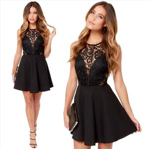 Drop Shipping 2020 Women Summer Dress Casual Sexy Backless Prom Lace Short Mini Dress Holiday evening Party dress 111
