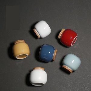 Thé Cans Ceramic Stockage Jar Décor Spice Jar Food Préserver Crystal Conteneur Couleurs Couleurs Ceramique Bouteille Candy Box