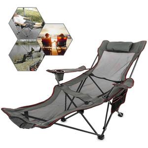 Vetore Beach Sun Lounger Soletto da esterno Pieghevole da esterno Portable Back Sedie da pesca Sgabello Sedile Q1130
