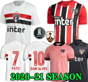 Dani Alves Pato 20 21 Sao Paulo Jersey Third Away Black Red Soccer 2020 2021 Hernanes Club Home Shirt de football blanc