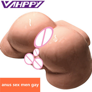 VAHPPY 2.5kg Male Silicone Big Ass 3D Real Anal Testis Sex doll Gay sextoy Male masturbator Sex Toys for Men Erotic toys JA309 Y201118
