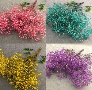 80 cm Artificial Babysbreath Día de San Valentín Regalo Decoración de la boda Holding Flowers Flowers Decoración del hogar Flores 8 colores