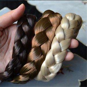 70% İndirim Sentetik Peruk Örgülü Saç Bandı Elastictwist Bantlar Prenses Hairband Şapkalar Kadın Kızlar Saç Aksesuarları