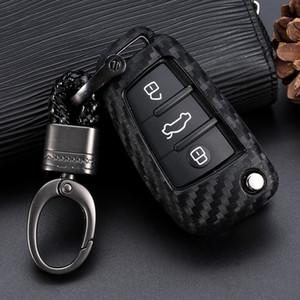 Araba Anahtarlık Anahtar Kılıf Kapak Tutucu Çanta Tutucu Audi A1 A3 S3 A6 S3 Q3 Q7 3 Düğme Fold Anahtar Kılıf için Fit