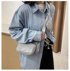 Fashion 3 in 1 PU Leather Crossbody Handbags for Women 2021 Purses and Handbags Brand Designer Messenger Shoulder Bag Clutch Bag