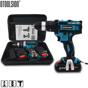 2 Speed 21V Impact Drill Impact Screwdriver Electric Wireless Power Tools Lithium-Ion Battery For Drilling In Steel Wood Ceramic 201225