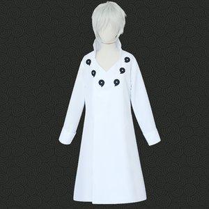 Anime Naruto Ootutuki Hagoromo Cosplay Costume White Cloak Halloween Party Game Cosplay Costume