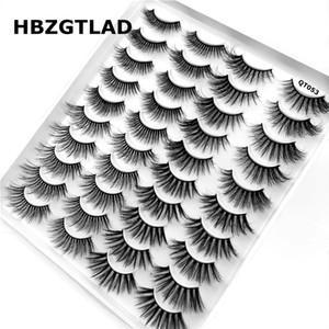 NEW 20 pairs 8-25mm fake Eyelashes 100% Mink Eyelashes Mink Lashes Natural Dramatic Volume lashes Extension False 3D Eyelashes QT053