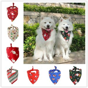 Christmas Dog Costume Triangular Bandanas Pet Scarf For Dogs Cats Neckerchief Dog Apparel Christmas Decoration Pet Grooming Supplies Z639