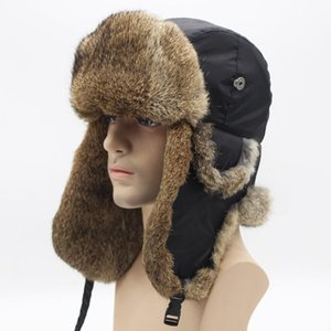 Winter Warm Men's Cloth Fur Hair Lei Feng Hat Outdoor Cycling Hunting Climbing Trekking Ski Thickened Ear Protection Cap