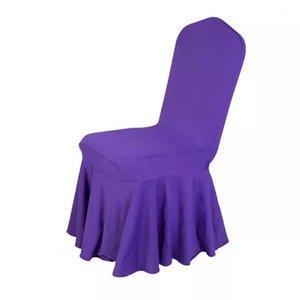 Yüksek Kaliteli 260gsm Sandalye Ployster Düz Parti Düğün Ziyafet Otel Restoran Streç Fit Sandalye Etek Kapakları Kapakları
