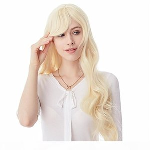 FULL LACE WIGS Soft Long Natural Blonde Human Hair100% Wig Straight Full Lace Wig White American Wig Can Customize It Factory Direct Sale
